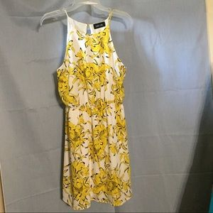 Fab'rik yellow flowered spaghetti strapped dress